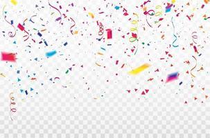 fitas coloridas de confete vetor