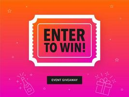 Colorful Enter To Win Ticket Banner