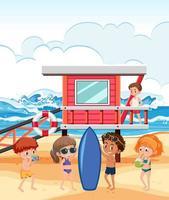 mensen op het strand vakantie