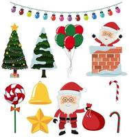 A Set of Christmas Elements vector