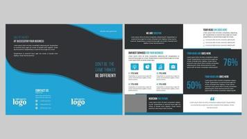 Creative Brochure Template Design with Colorful Waves