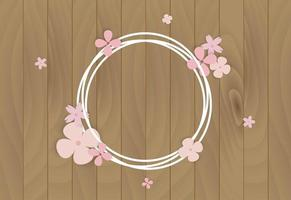 Pastel Flowers on White Wire Frame vector