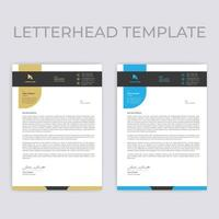Beige and Blue Rounded Shape Letterhead Template