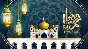 ramadan kareem wenskaart ontwerp