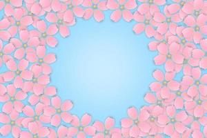 roze kersenbloesem sakura bloem frame