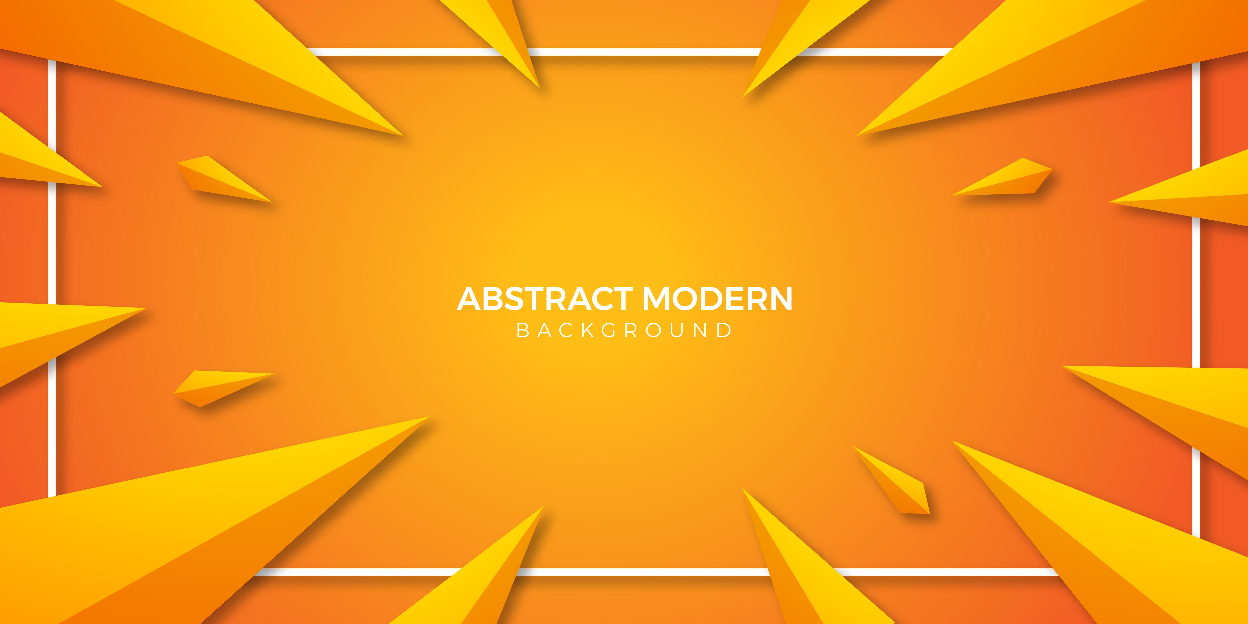 triangle orange gradient modern wallpaper