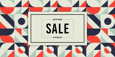 Retro geometric sale banner