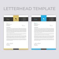 Beige and Blue Horizontal Border Letterhead Template