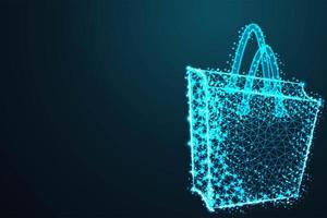 Modern Blue Poly Shopping Bag Design