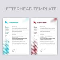 Blue and Red Triangle Pattern Letterhead Template