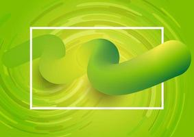 Abstract Green Flowing 3D Design vector
