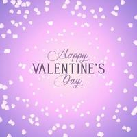 Valentine's Day Background with Hearts Design