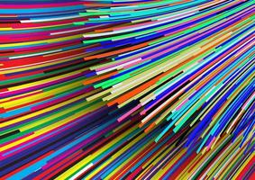 Abstract Rainbow Flowing Lines vector
