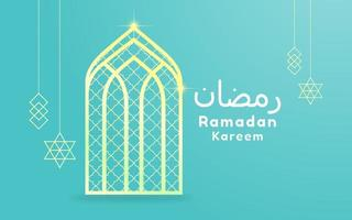 Ramadan Kareem Greeting Card with Hanging Items