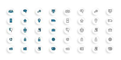 Blue and black technology set  vector