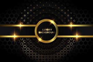 Luxury Gold and Black Circles Design