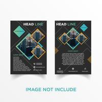 geometrisk diamant flygblad broschyr uppsättning