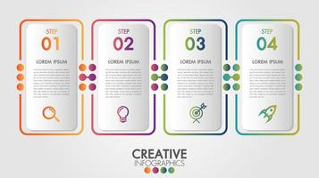 Infographic template with icons and 4 options