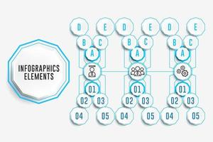 Infographics Elements in X Formation vector