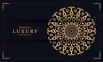 Luxury Decorative Mandala with Heart Shapes vector