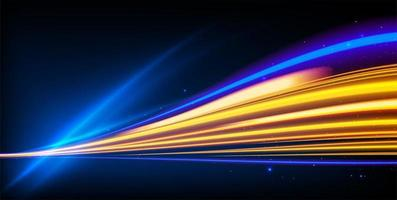 Light Trails Effect with Colorful Blurred Lines