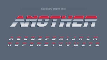 Red Chrome Futuristic Artistic Font vector