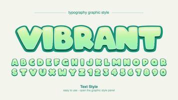 diseño de tipografía de cómic verde de dibujos animados