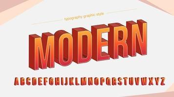 Modern Red Orange Bold Typography Design