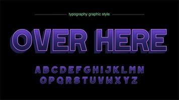 diseño de tipografía mayúscula 3d púrpura vector