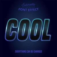 Cool text, editable font effect vector