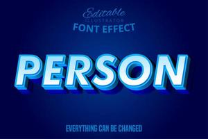 Person simple bold text effect