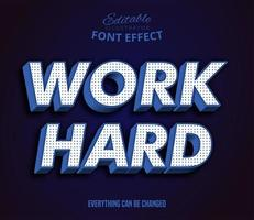 Work Hard text, editable text effect vector
