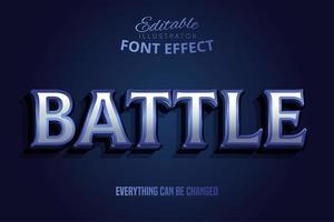 efecto de texto cinematográfico de batalla vector