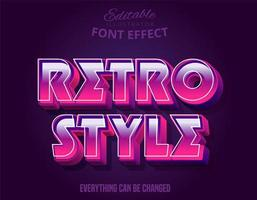 3d strong pink bold retro style  text effect vector