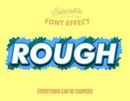 Bold rough font effect