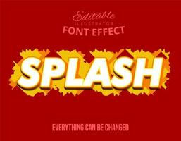Splash bold text effect