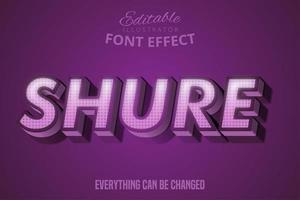Shure Text Bold Purple Typeset vector