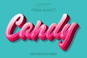 Candy pink editable font effect vector