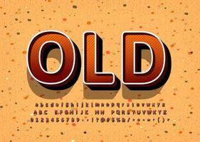 Old Vintage display font design