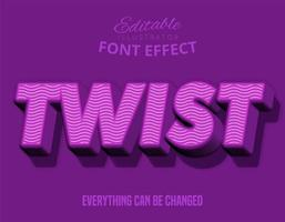 Twist fuchsia text effect.