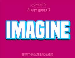 Imagine Text, Editable Font vector