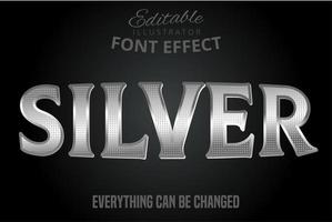 Metallic silver text effect