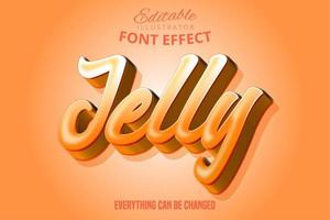 Jelly orange editable font effect