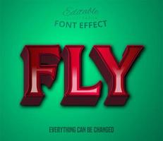Fly text, Editable Text Effect