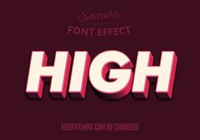 High Text Pink and Dark Red Typeset