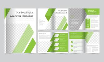 Green Diagonal Striped Brochure Template