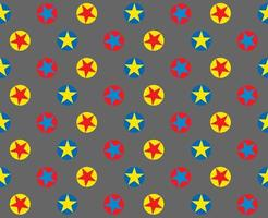 Bright circle star pattern on grey