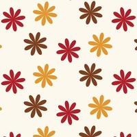 Seamless Autumn Flower Pattern