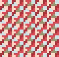 Stacked Small Squares Geometric Pattern