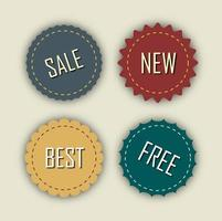 Set of round sale labels.